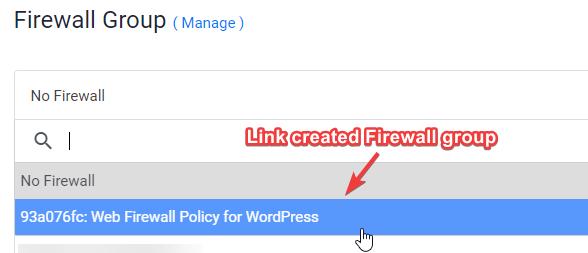 Link Firewall Group