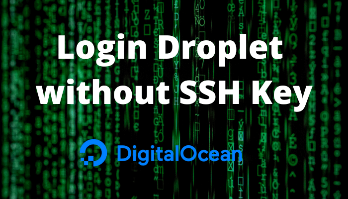 Lost Droplet SSH Key Solution