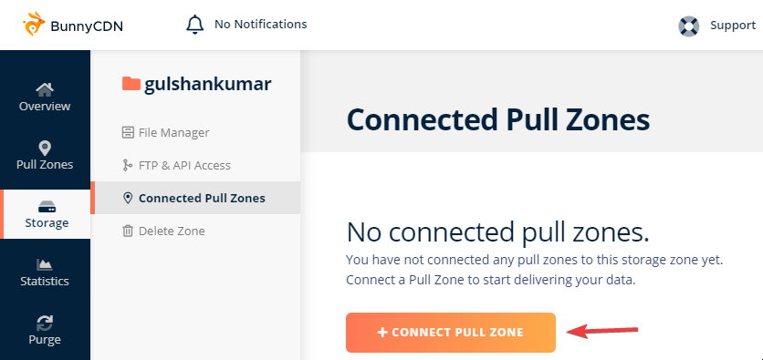 Storage and Pull zone Integration