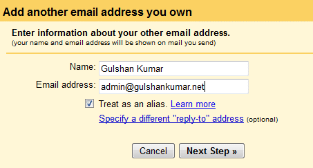 enter another email address