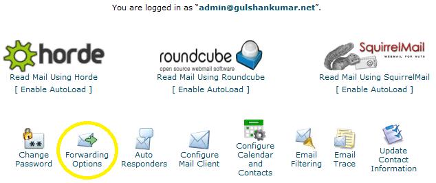 forwarding email option