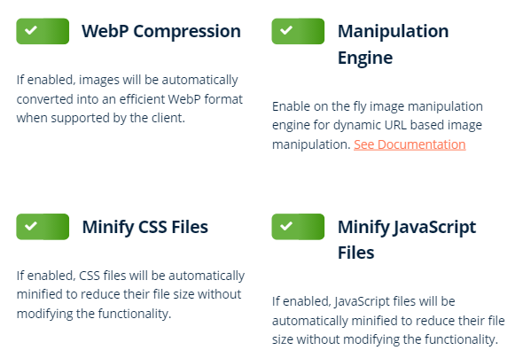 bunnycdn optimizer features