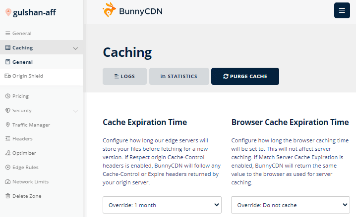 do no cache in browser 1