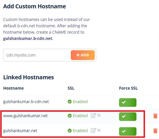 adding custom hostnames 1